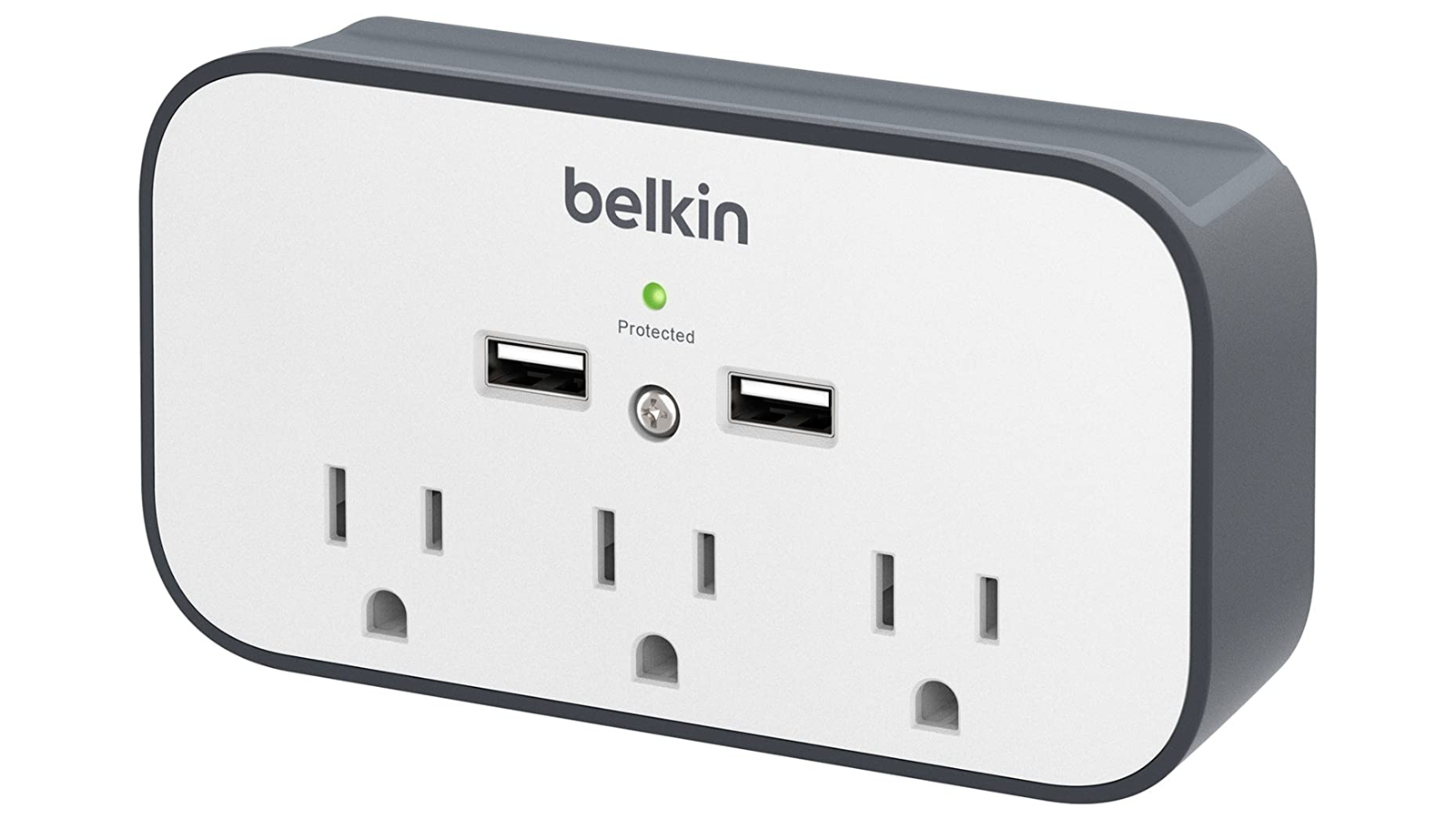 Connect and Charge All Your Devices with This Wall Mount Surge Protector