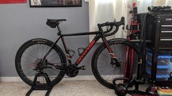 Indoor shot, a bike in low light