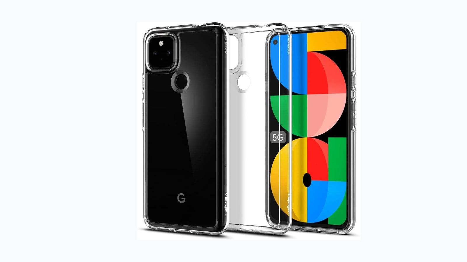Google Pixel 5a in Spigen Ultra Hybrid Case.