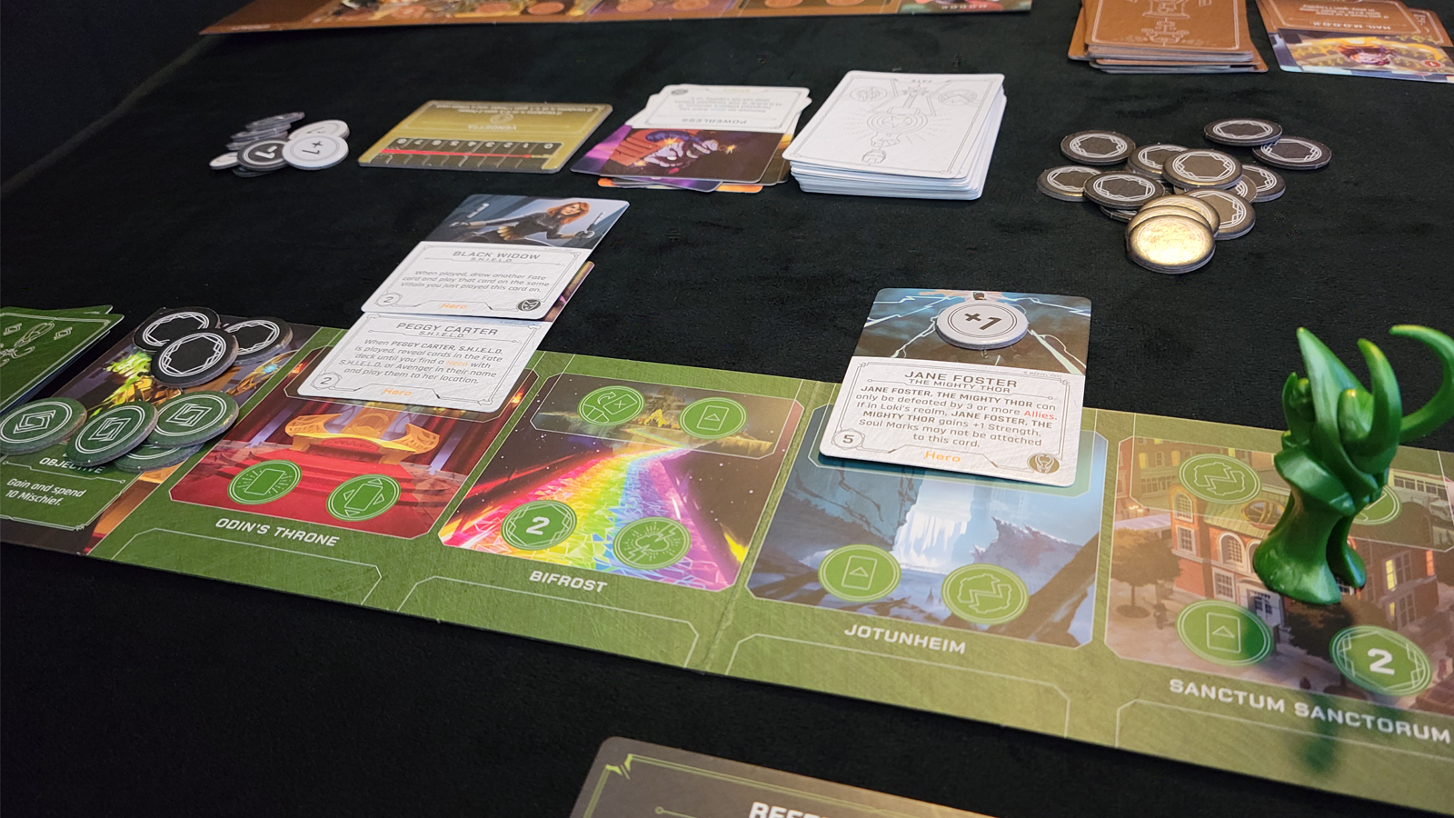 Loki's Domain with opponent cards and tokens in play