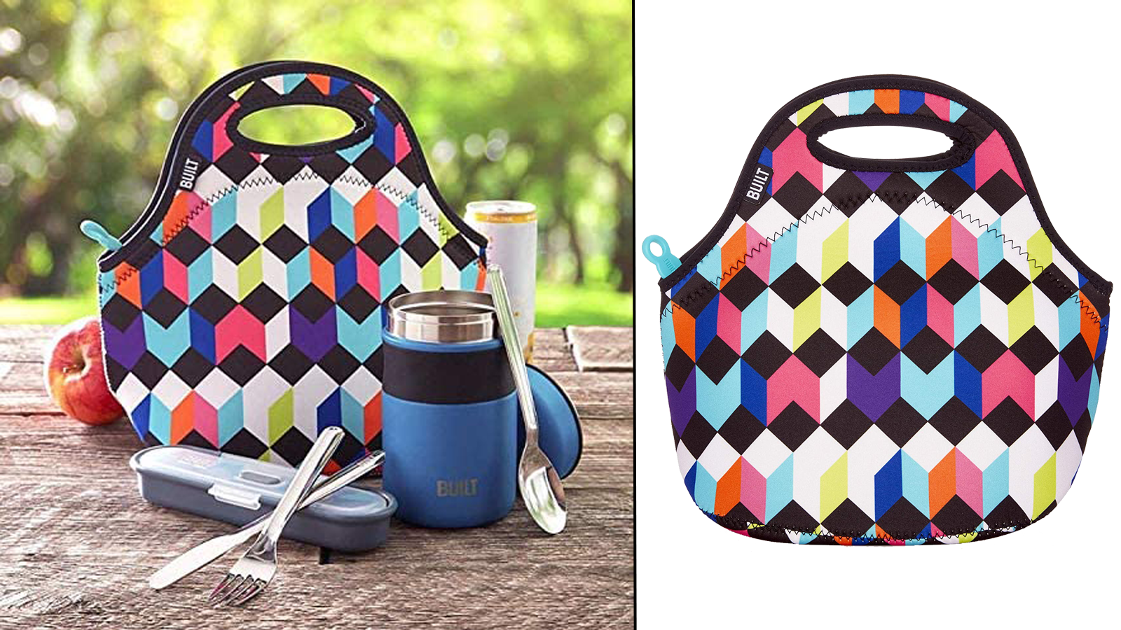 These Soft Neoprene Lunch Tote Bags are Perfect for Picnics and More