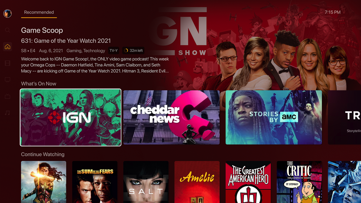 """Plex's new """"Modern"""" UI with artful backgrounds and streamlined metadata."""