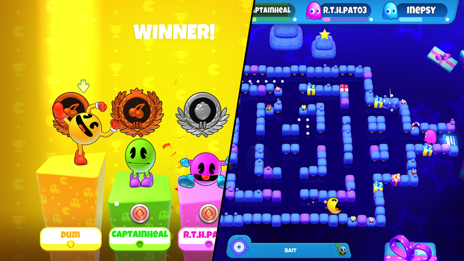 Pac-Man Party Royale in action.