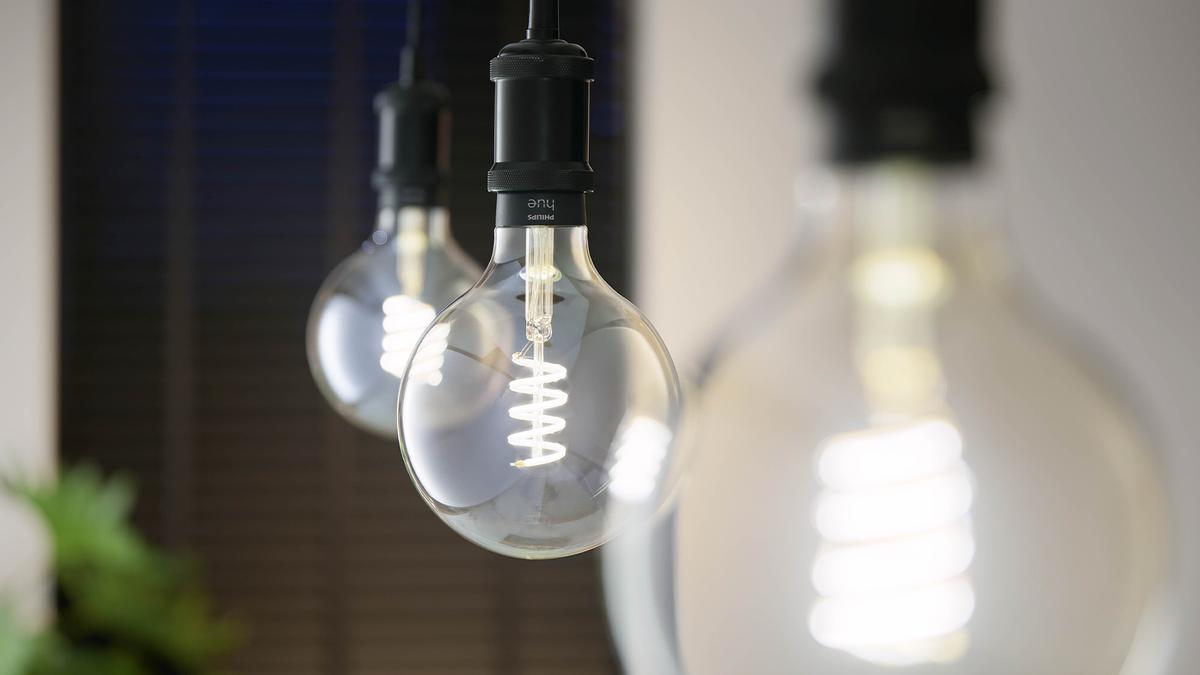 The Philips Hue G25 filament bulb.
