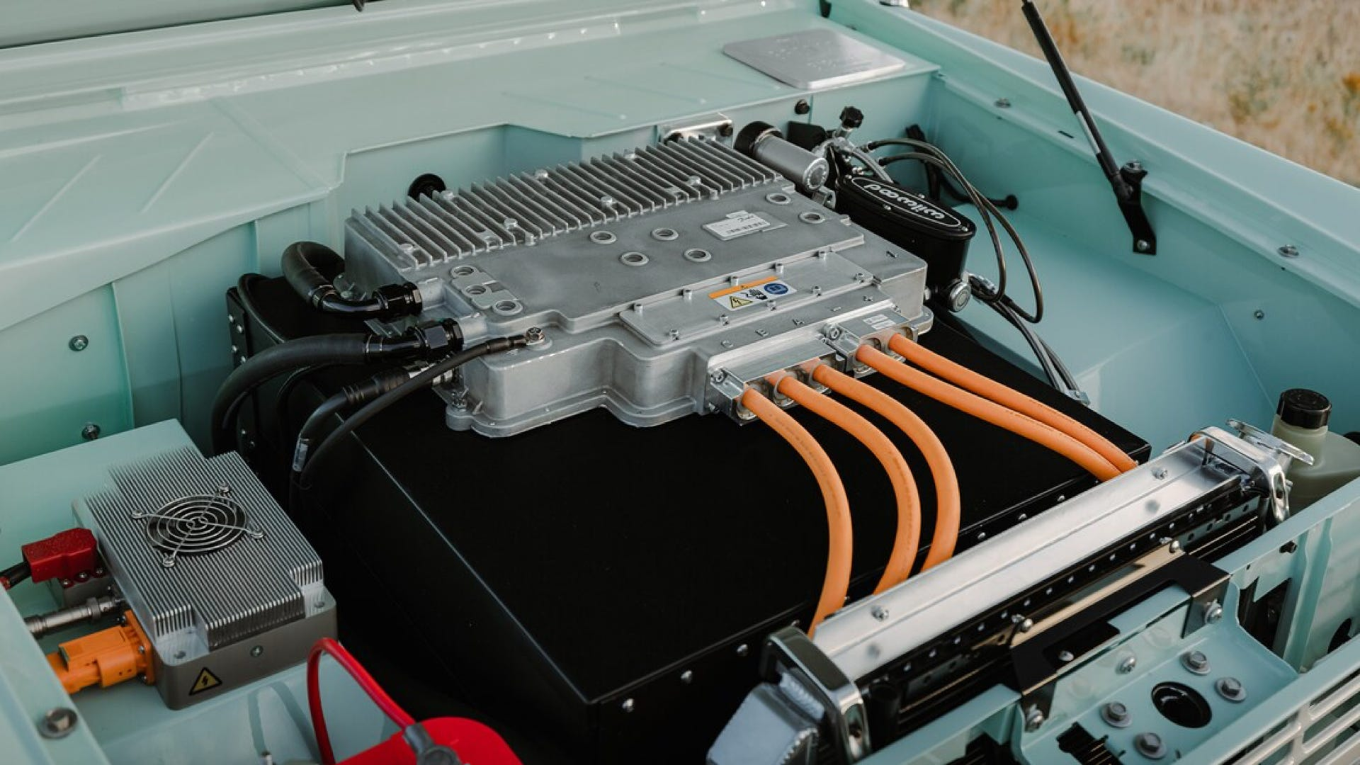 Gateway Bronco electric engine setup