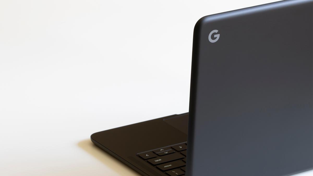A Google Pixelbook Go.