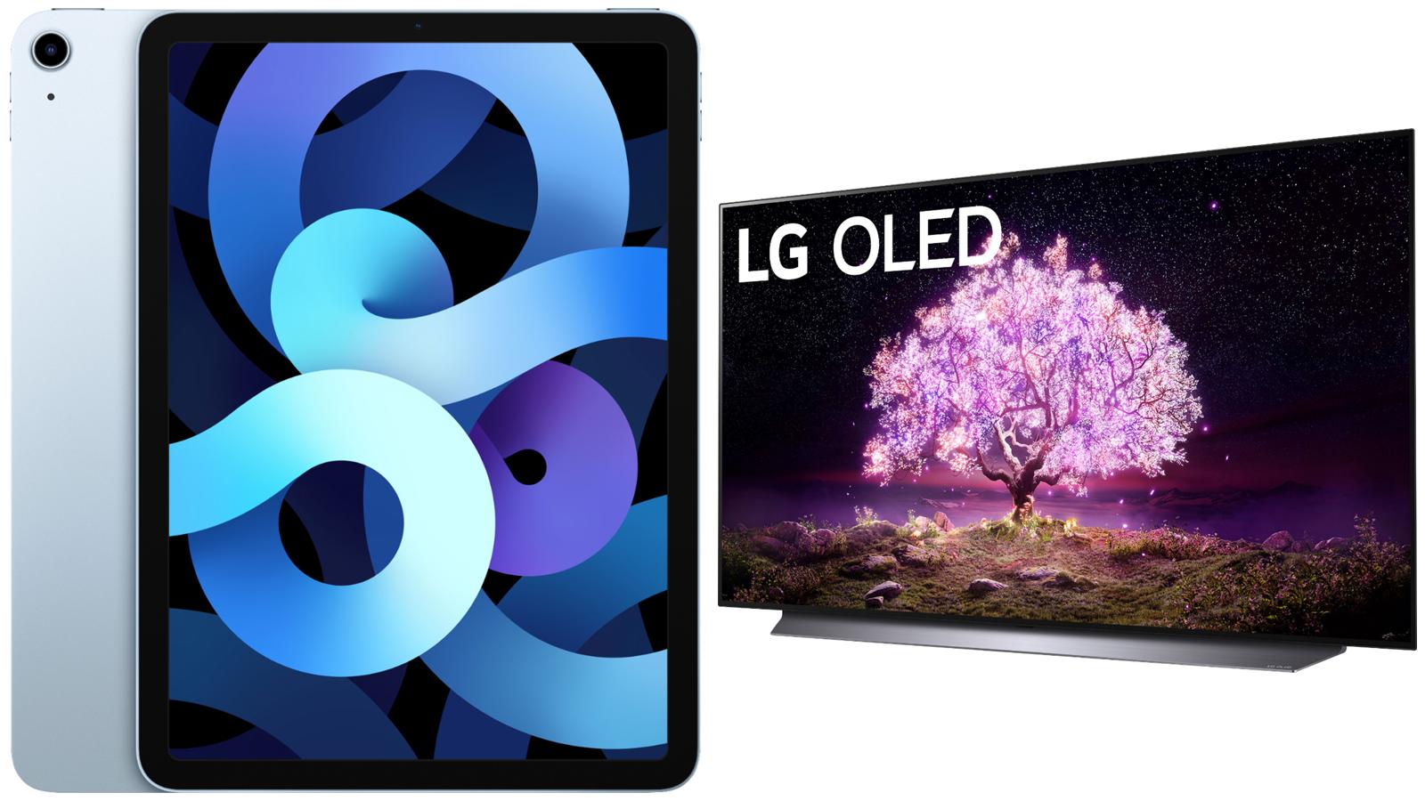 """Apple 10.9"""" iPad Air and LG 55"""" OLED 4K UHD TV"""