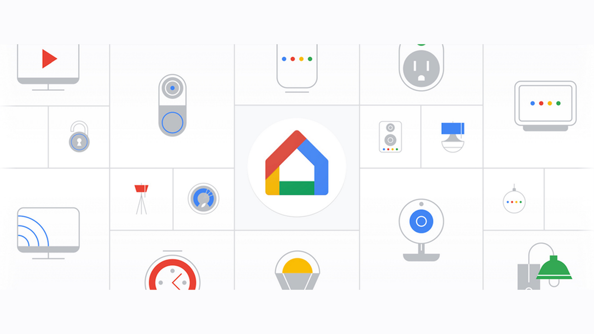 An illustration of the Google Home app and Nest devices.