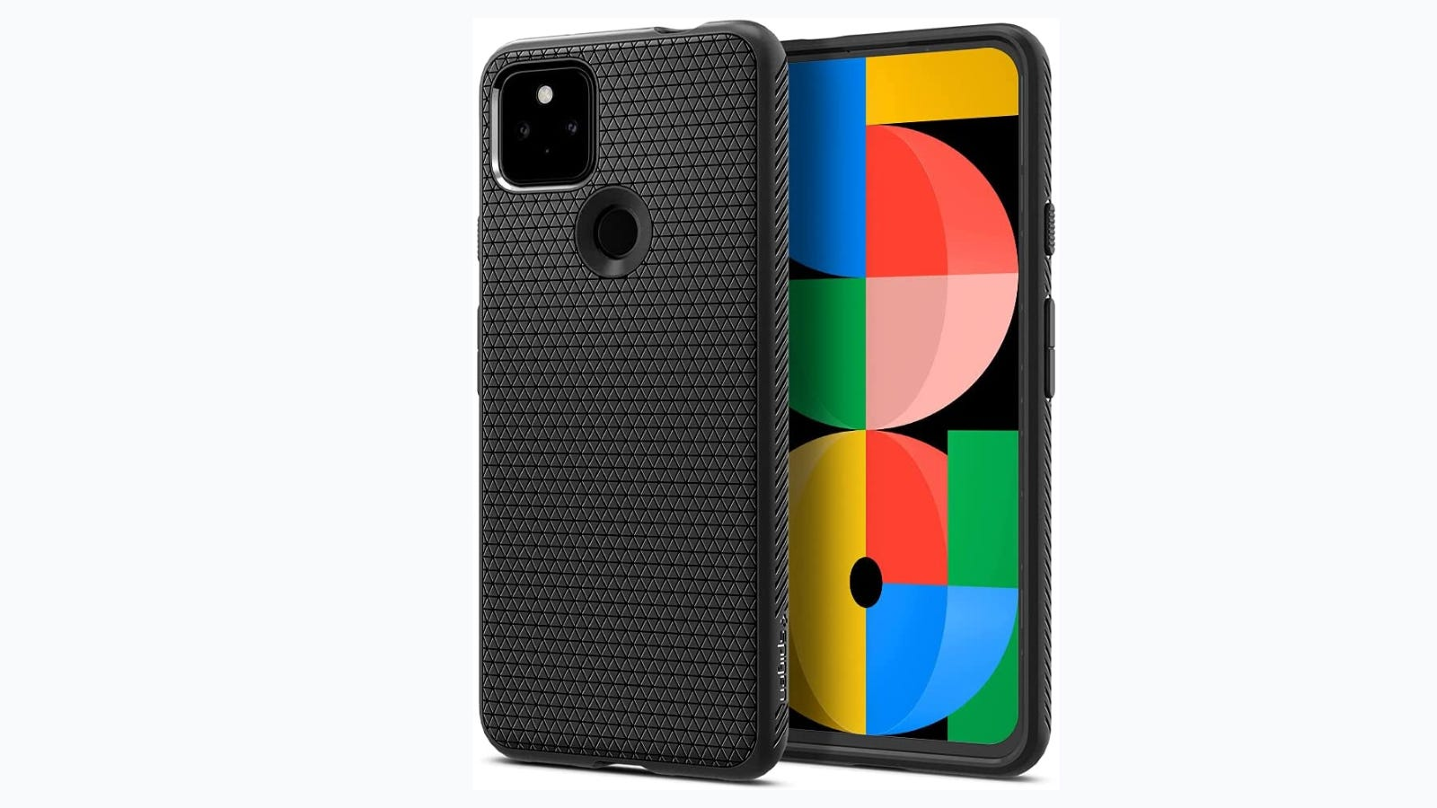 Google Pixel 5a in Spigen Liquid Air Case.