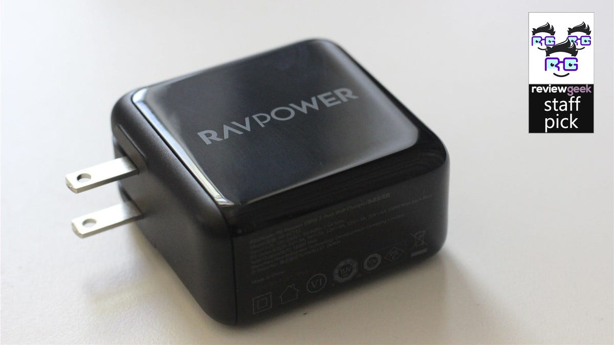 The RavPower PC151 on a desk