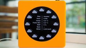 This Raspberry Pi Powered Clock Shows Weather and Time