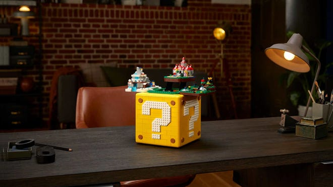 LEGO Shoved Four 'Super Mario 64' Levels Into a Life-Sized Question Mark Block