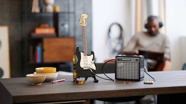 LEGO's Fender Stratocaster Guitar Set is Your Stairway to Heaven
