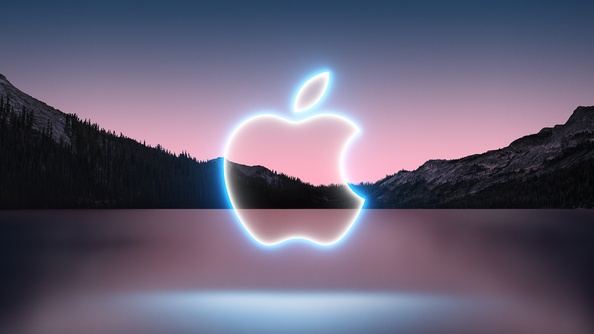 The banner for Apple's iPhone 13 launch event