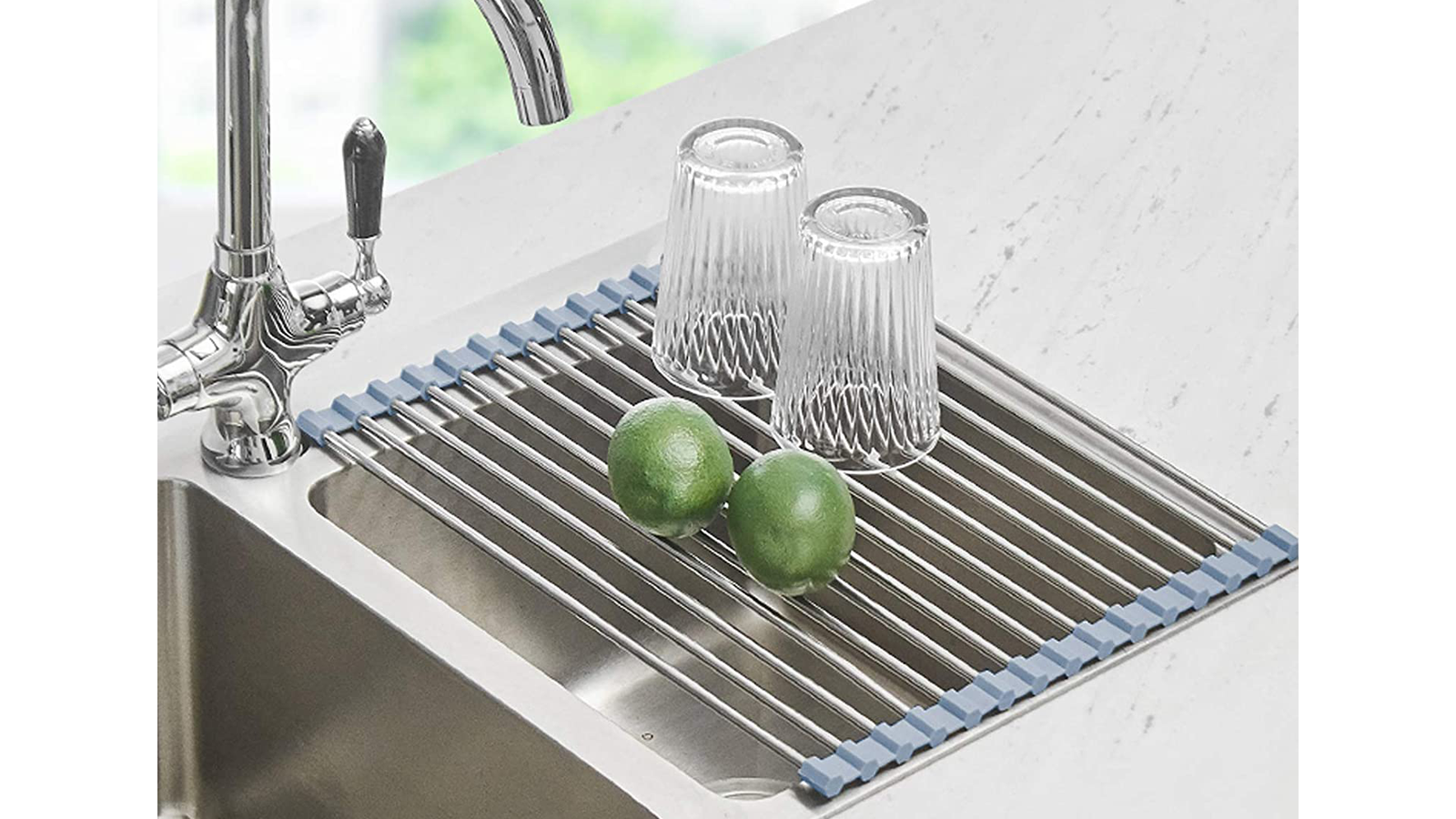 This Over-the-Sink Dish Drying Rack Makes Common Kitchen Tasks Easier