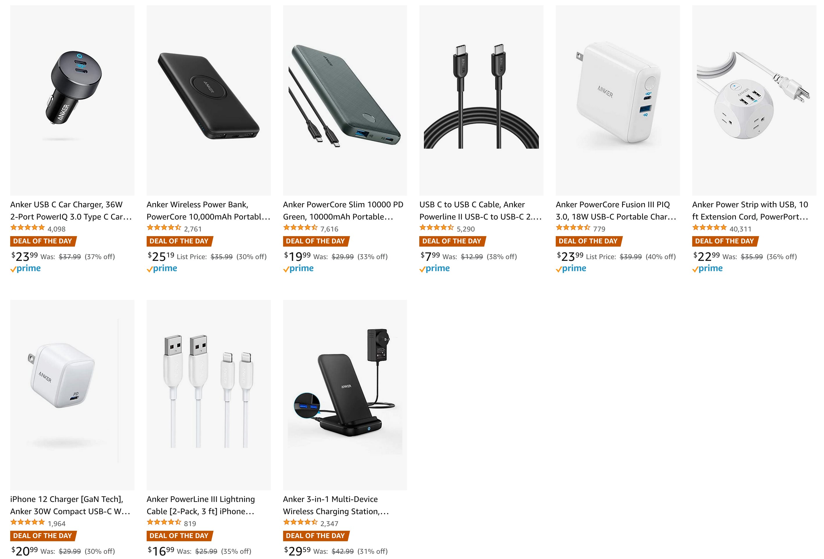 Save up to 40% on Anker Products