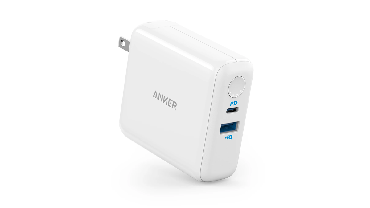 The Anker PowerCore Fusion III PIQ 3.0 power adapter.