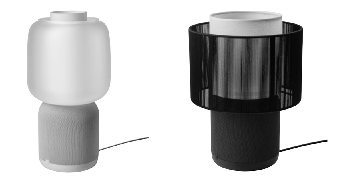 Leaks of potential new Symfonisk lamp, in both lampshade options