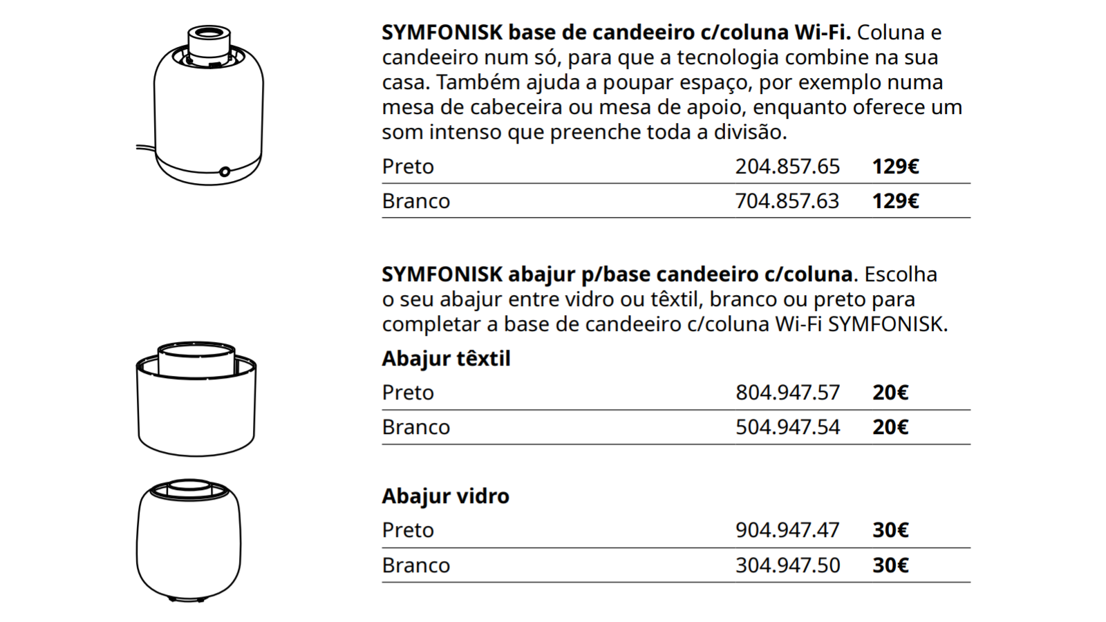 Graphics and supposed pricing for the new Symfonisk
