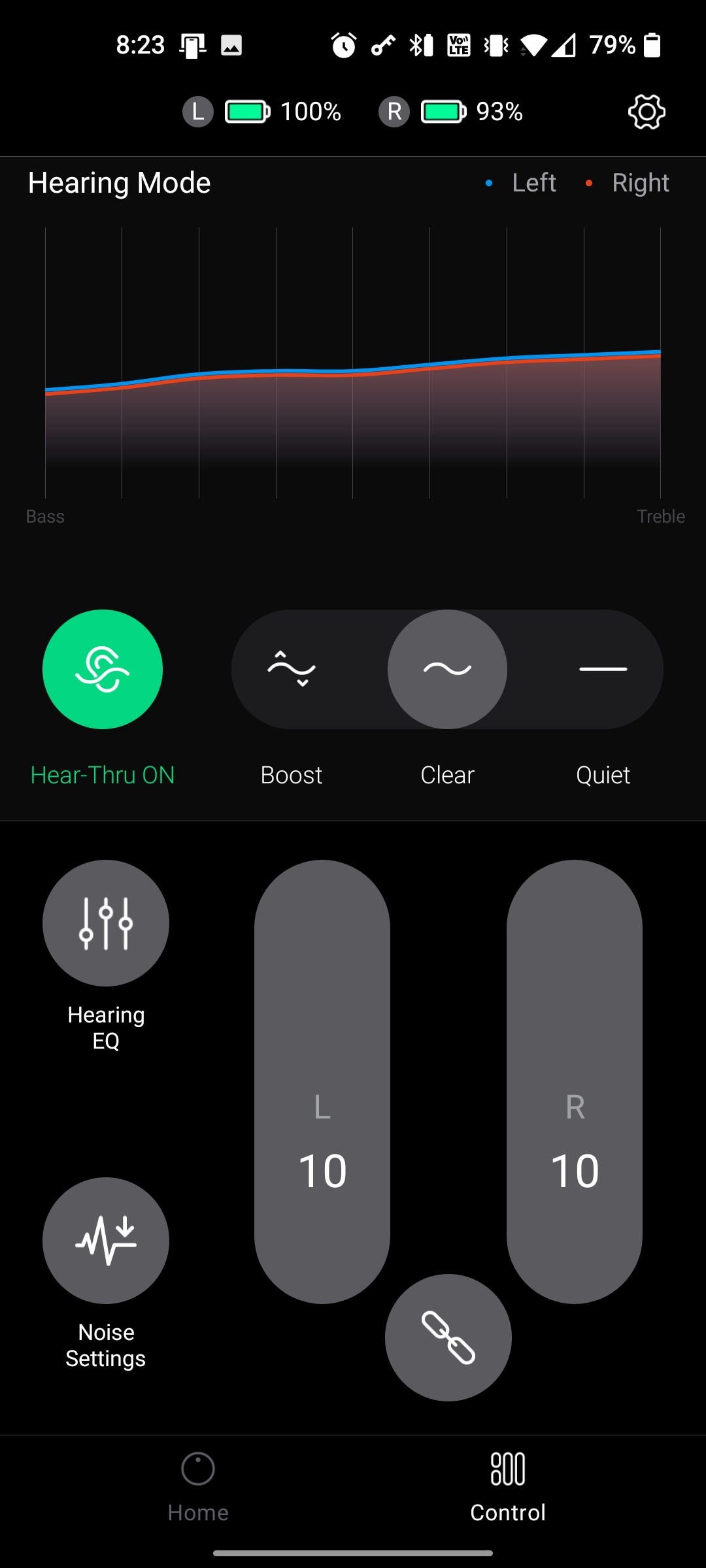 An app with a clean setting on.