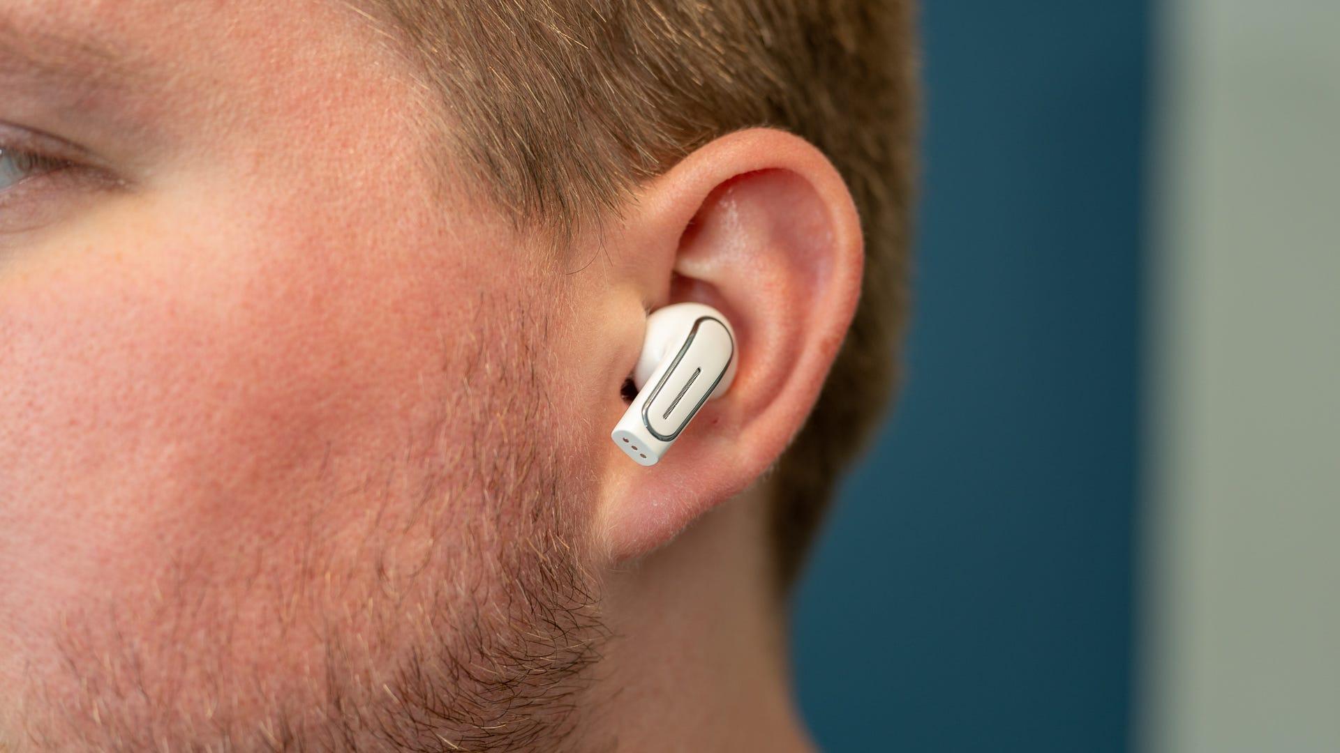 An earbud inside an ear