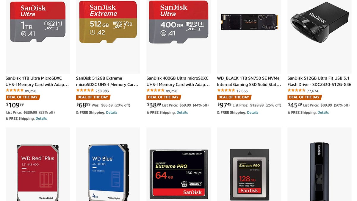 SanDisk deal of the day, gold box deals