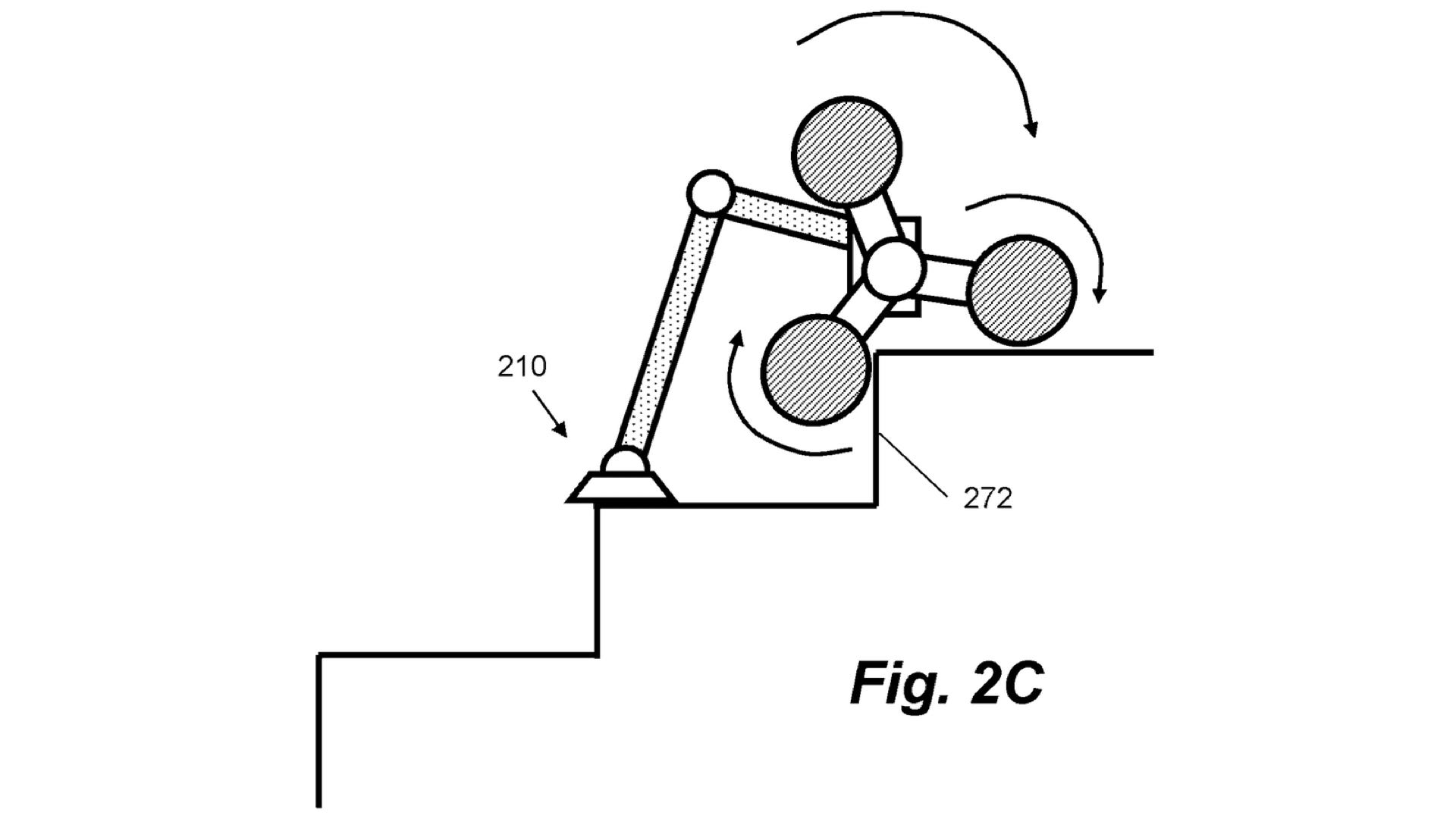 Dyson robot vacuum going up stairs -- patent