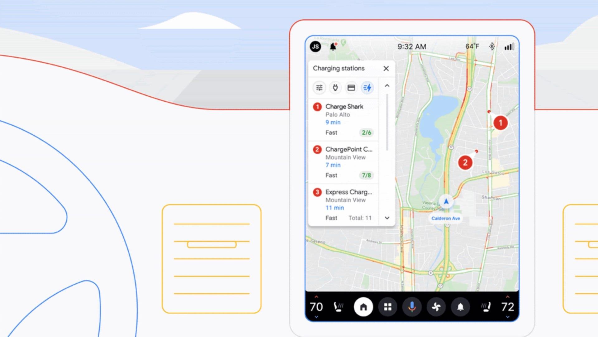 Google car EV charging