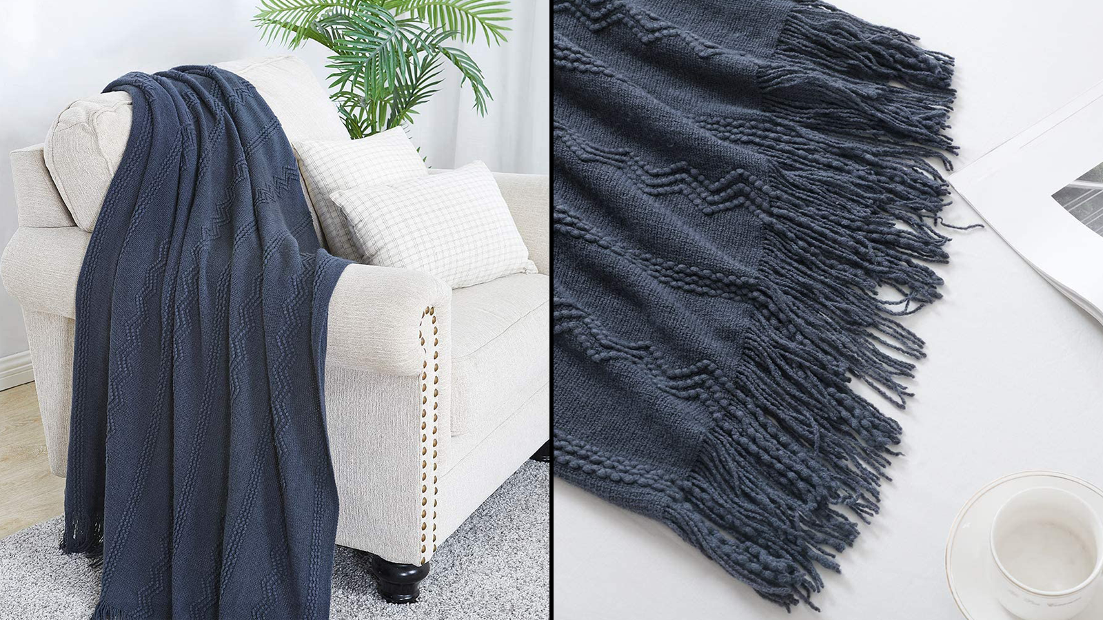 This Geometric Knit Throw Blanket is Exactly What You Need Now that Fall is Here