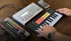 Retrokits Made a MIDI Sequencer That Looks Like an Old-Fashioned Calculator