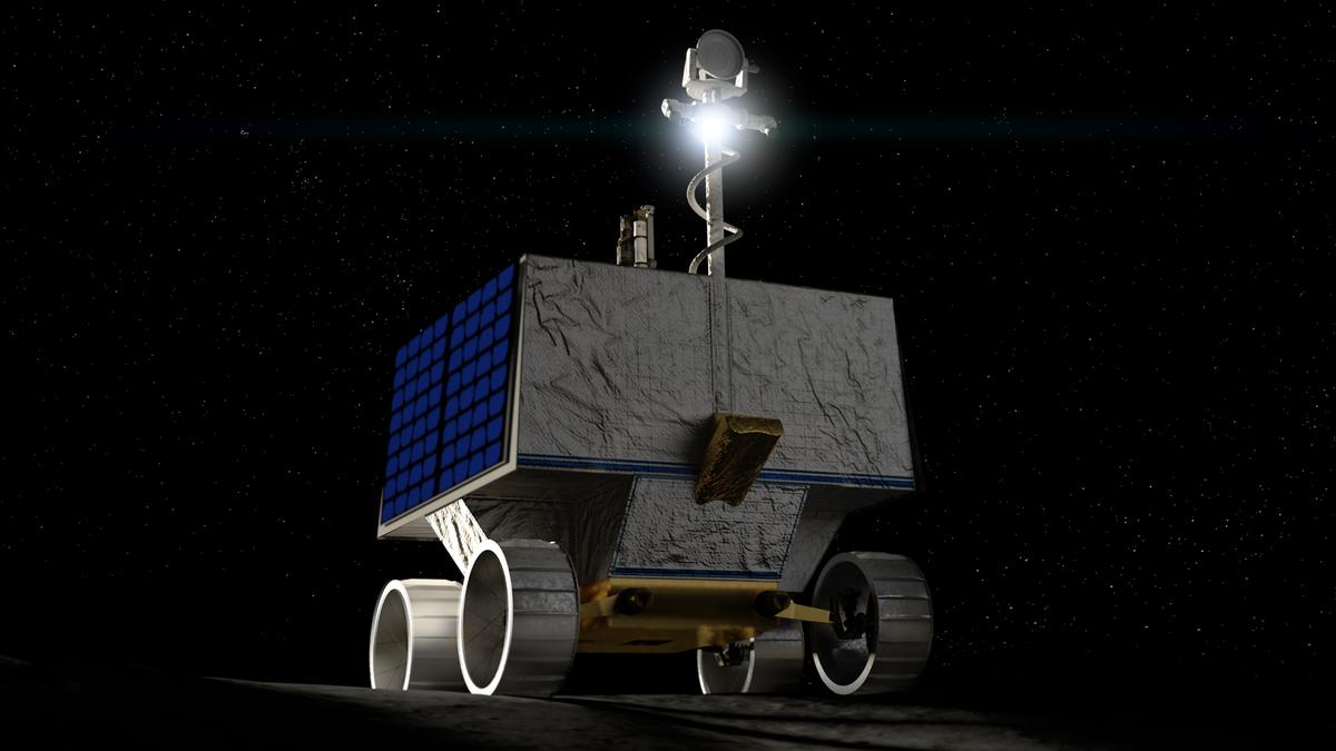 A render of NASA's VIPER rover.