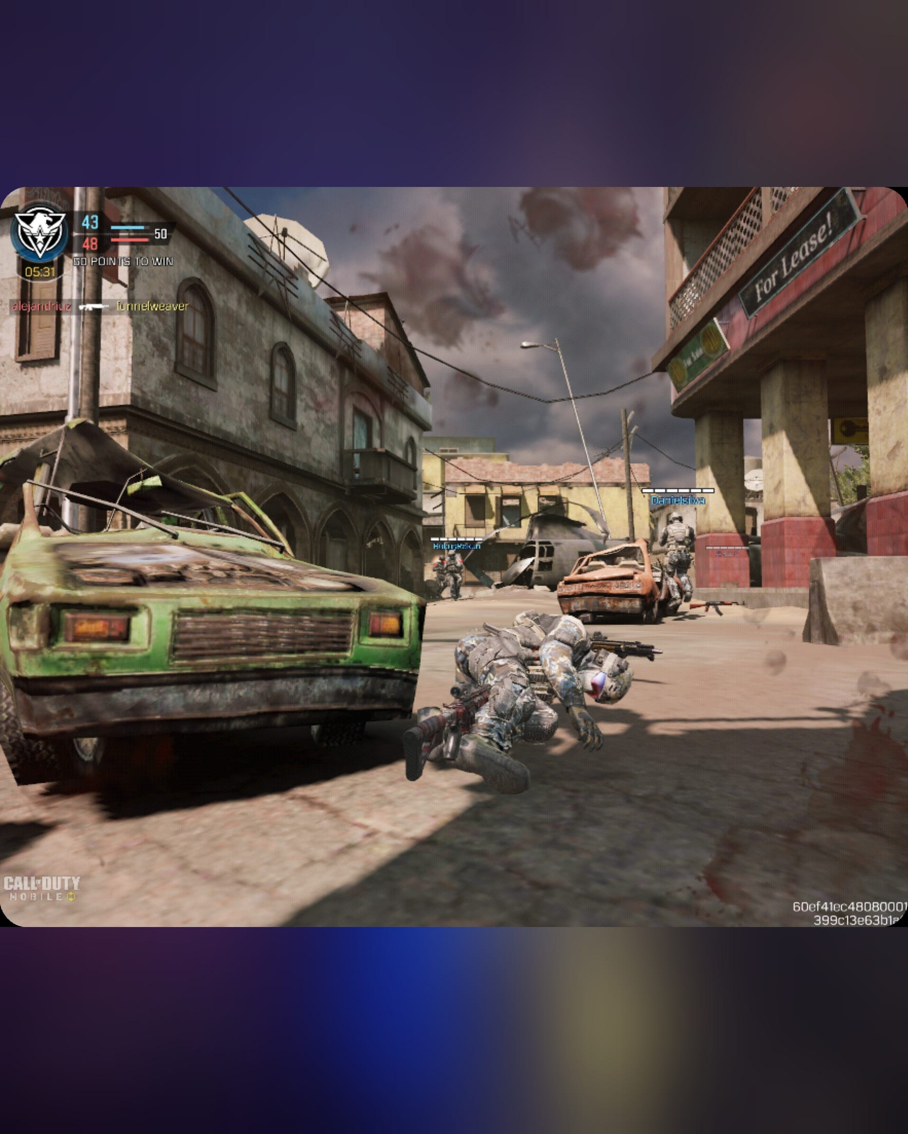 Call of Duty Mobile on the Fold 3's main display