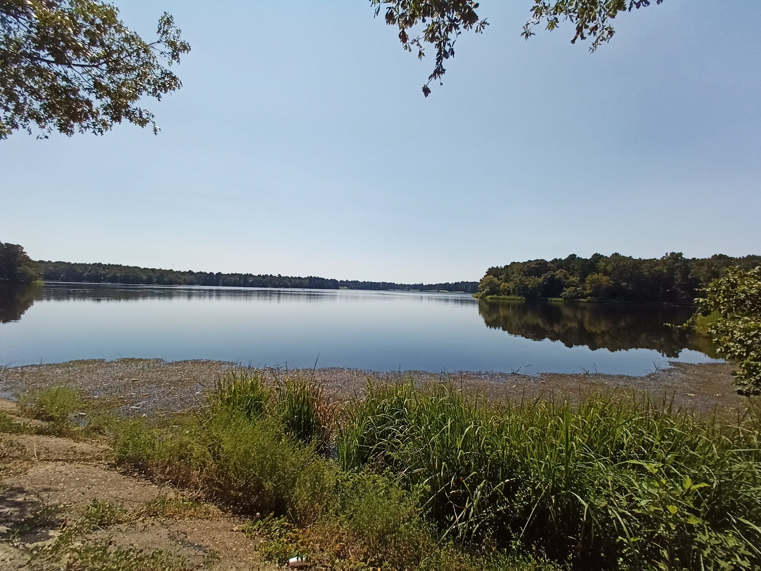 BLU g91 Pro photo sample: A landscape with a lake, zoomed out
