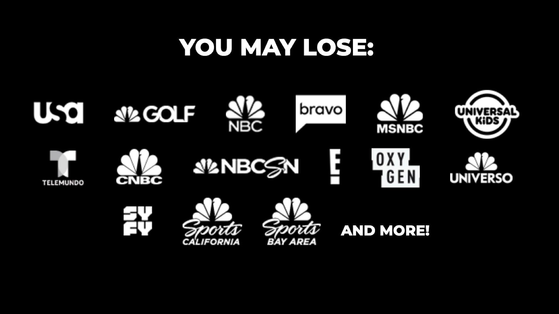 NBC channels leaving YouTube TV