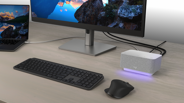 Logitech Combines a USB Dock and Speakerphone for Easier Video Calls