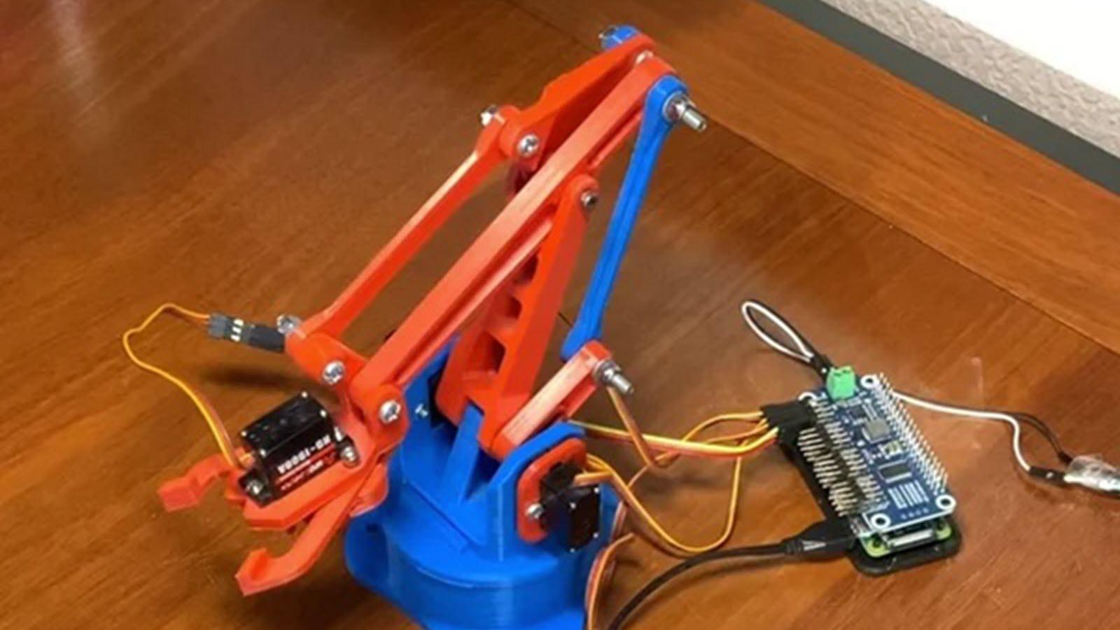 A 3d printed robot arm.