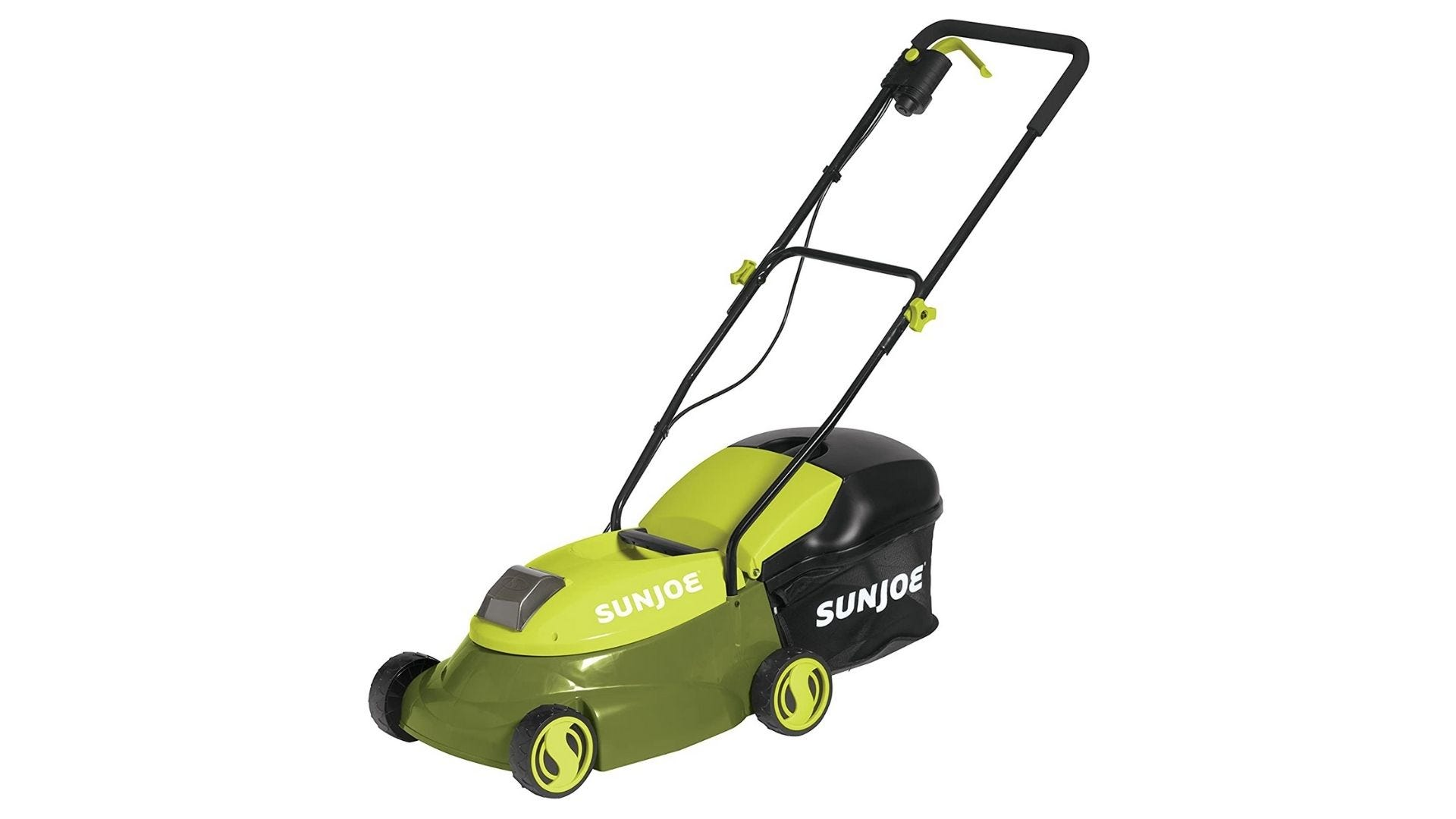 SunJoe 14 in. 28-Volt Cordless Walk Behind Push Mower Kit with 4.0 Ah Battery + Charger