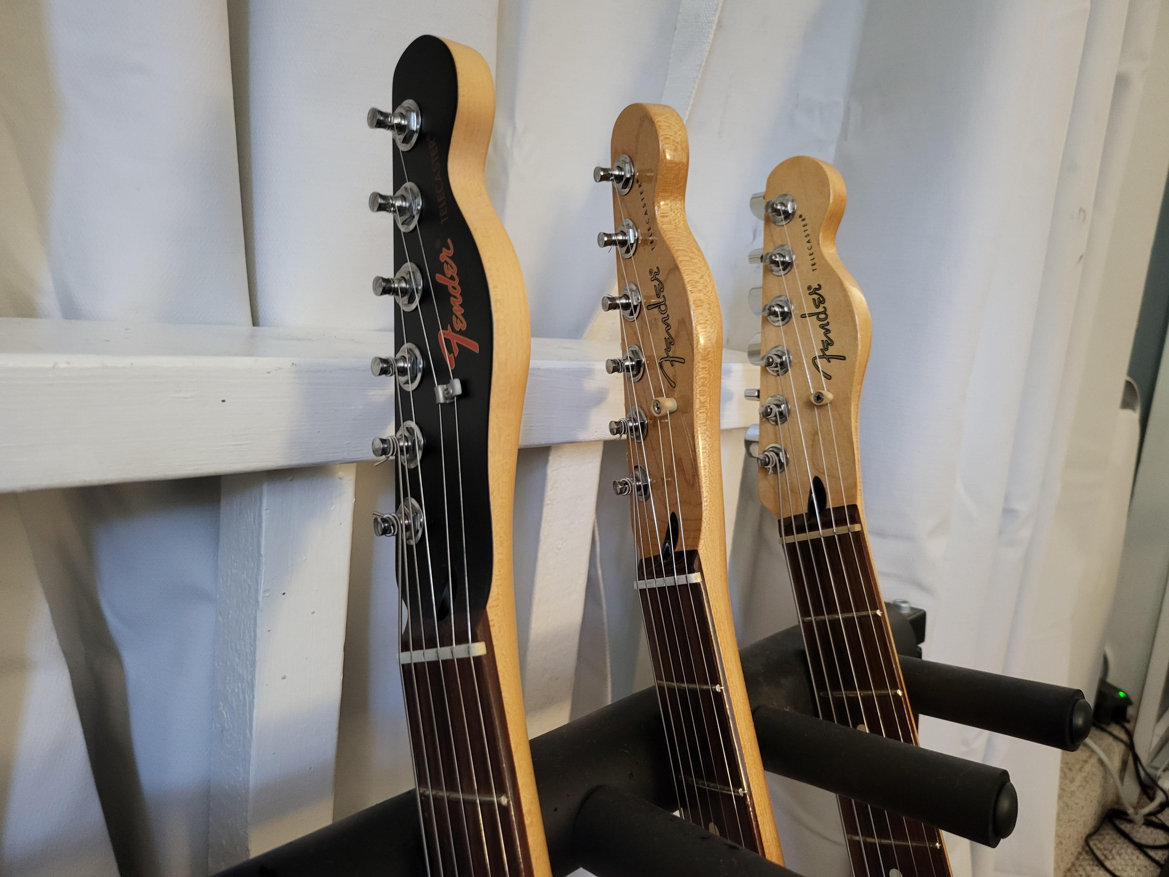 Fender guitar headstocks
