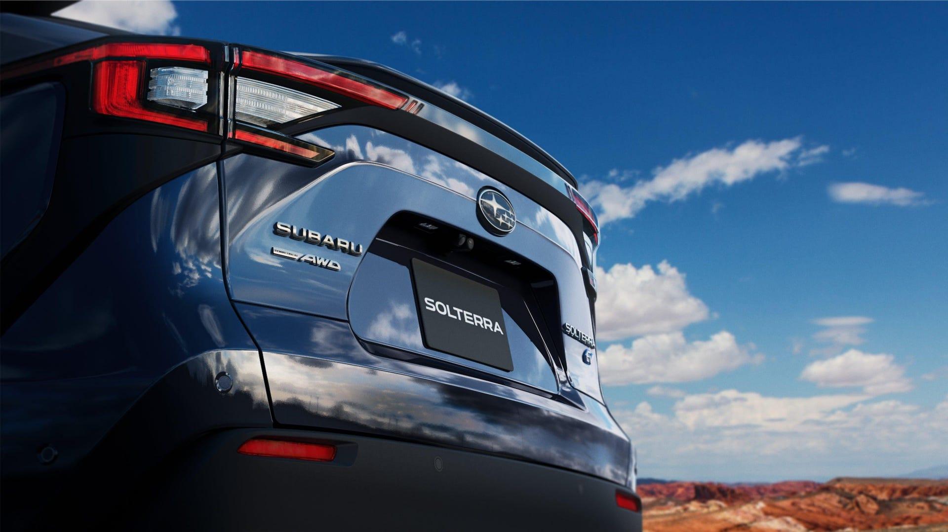Subaru Solterra rear