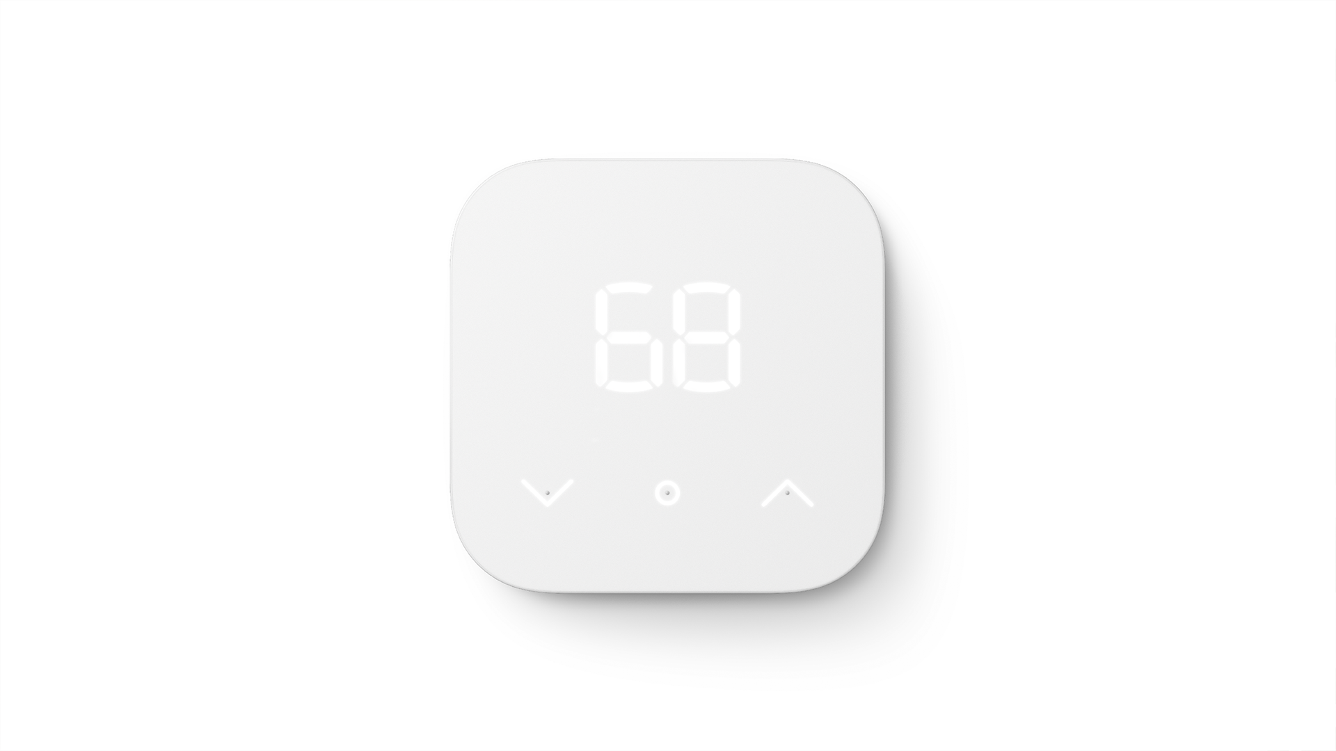 The Amazon Smart Thermostat on a white background.