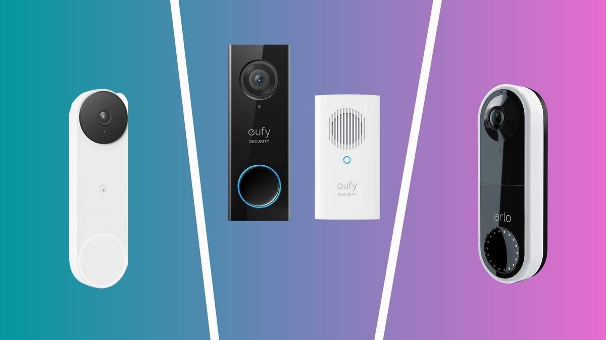 best video doorbells including nest doorbell from google, eufy, and arlo