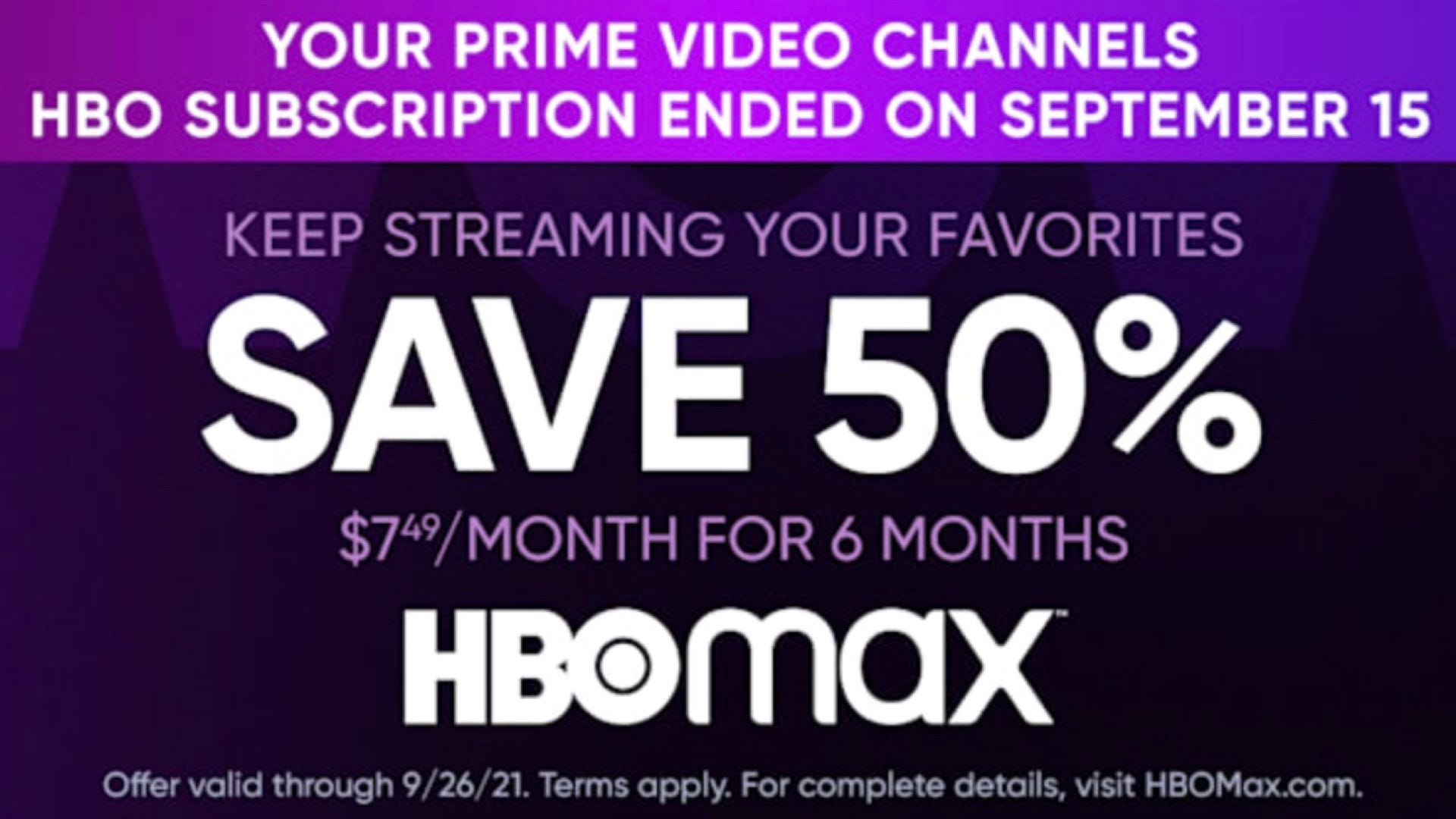 HBO Max discount deal