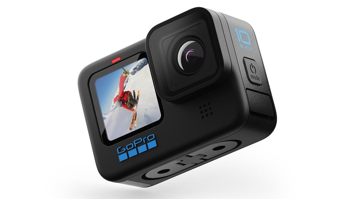The GoPro HERO 10 Black camera.