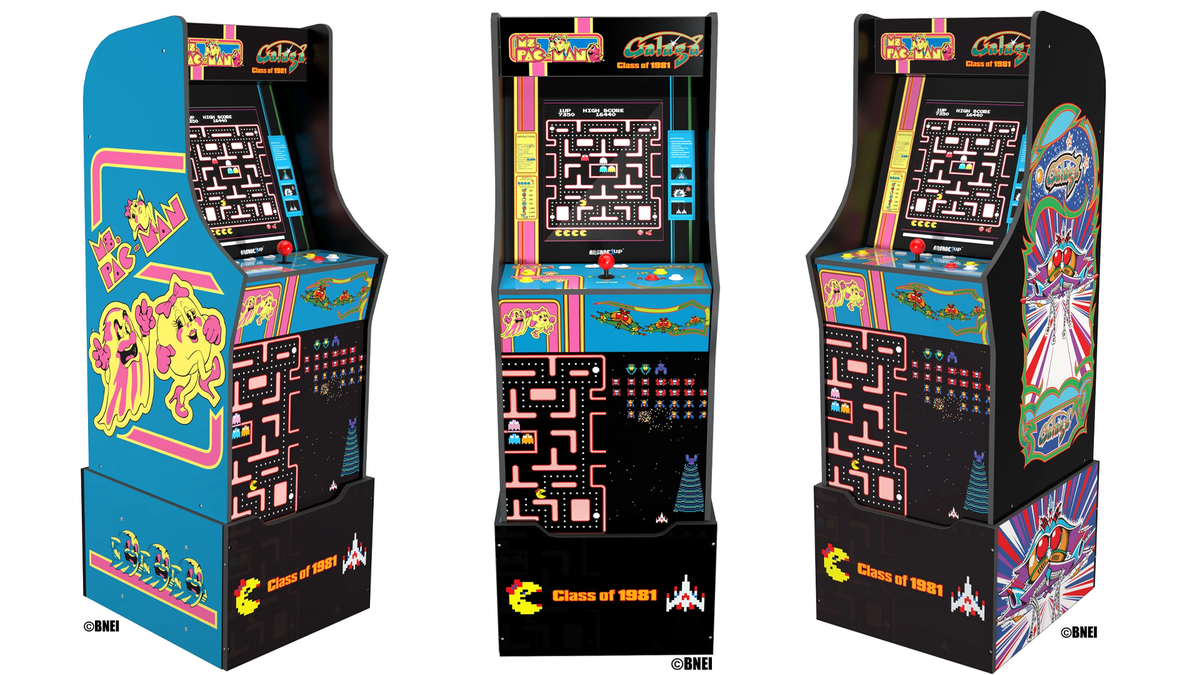The joint 'Mrs. Pac-Man' and 'Galaga' Arcade1Up machine.