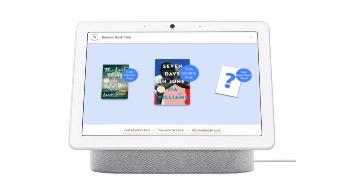 Reese's Book Club on Google Assistant