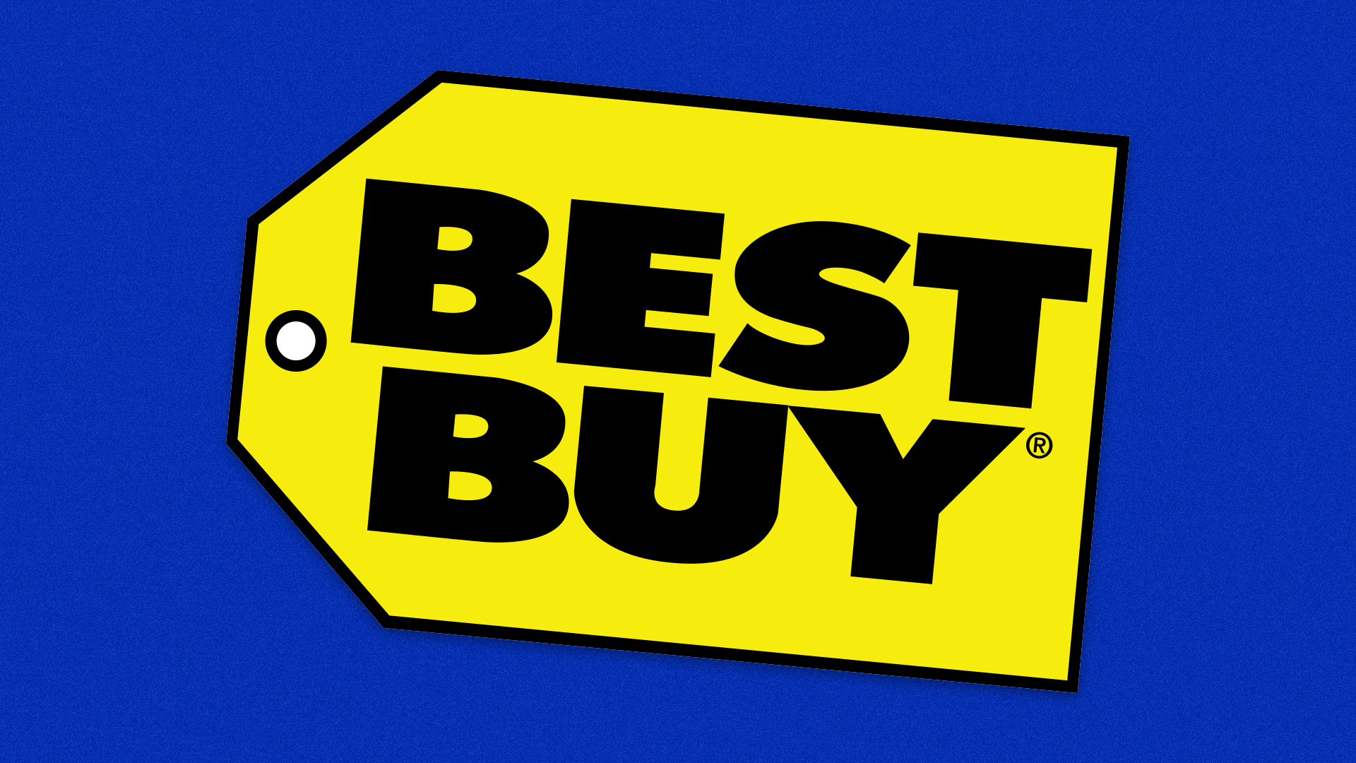 The Best Buy logo on a blue background.