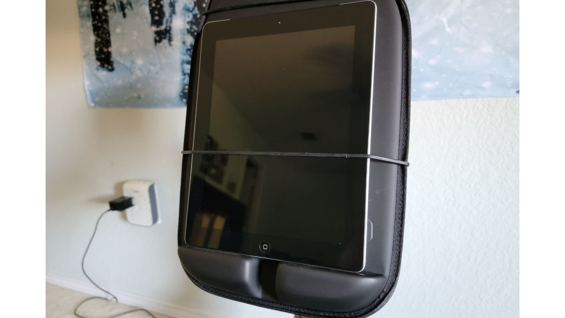 ipad secured in liteboxer display section