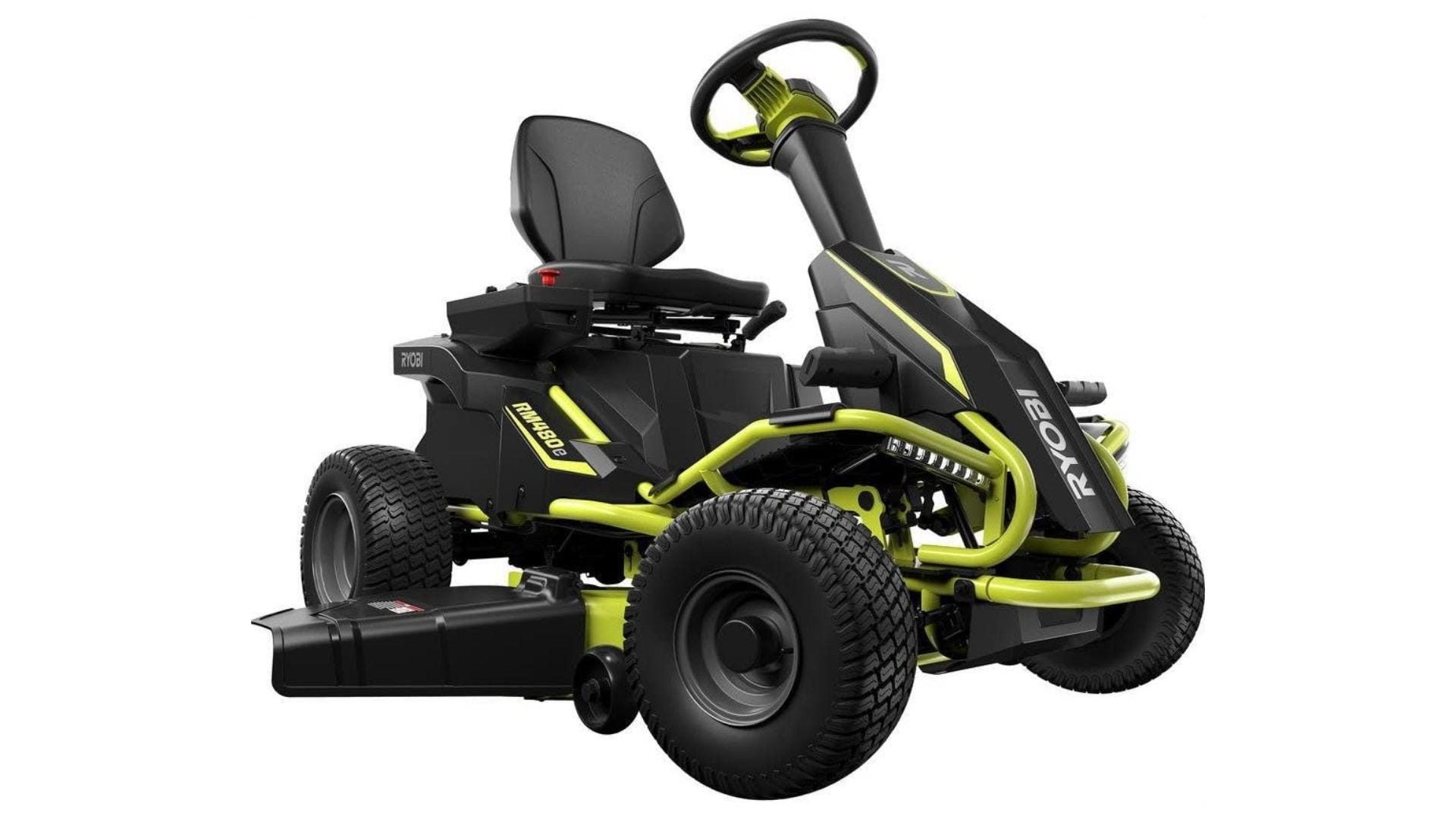 RYOBI 48V Brushless 38 in. 100 Ah Battery Electric Rear Engine Riding Lawn Mower