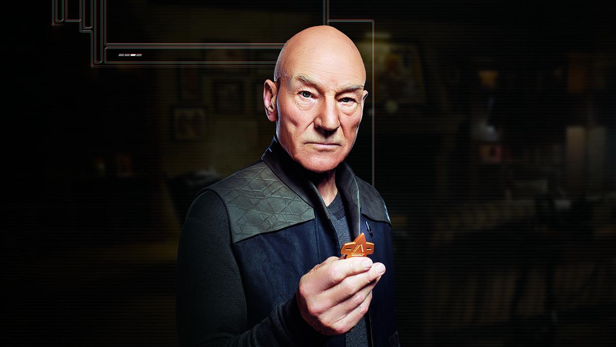 "Patrick Stewart as Jean Luc Picard in 'Star Trek: Picard."""
