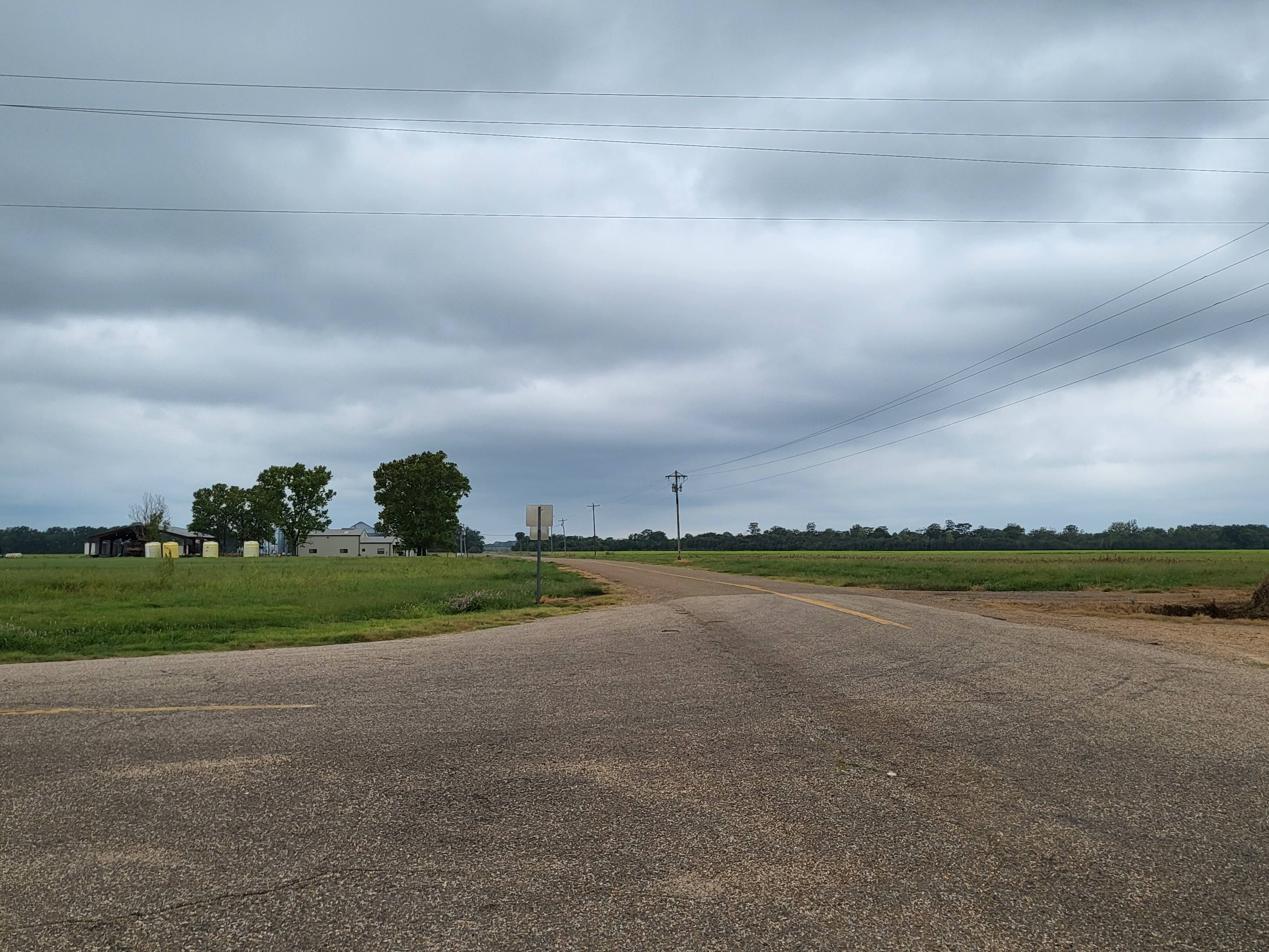 A landscape shot with a road and open sky